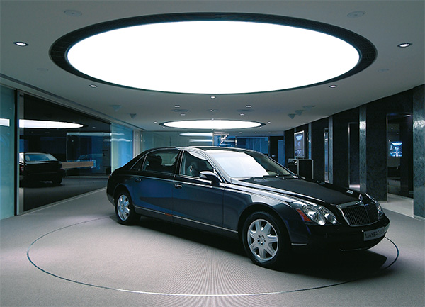 Barrisol ceiling car showroom